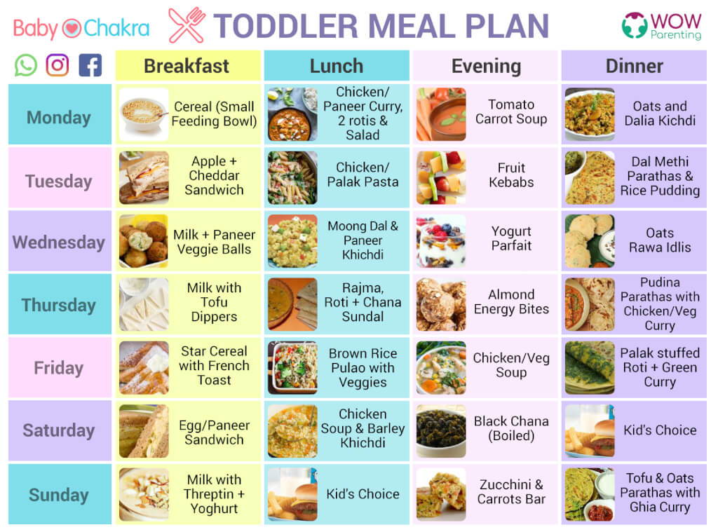 toddlers meal plan