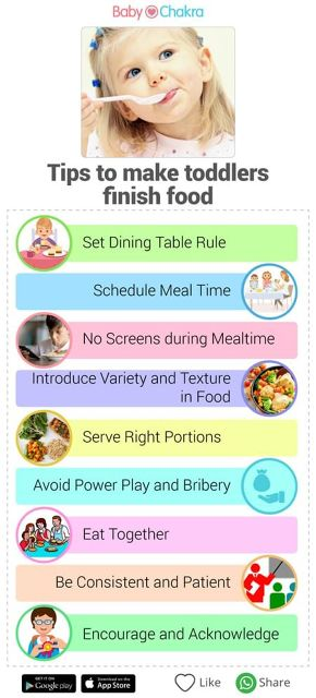 tips to make toddlers eat food
